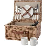 Two Person Willow Picnic BasketBrownBrown