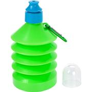 600ml Collapsible Water Bottle with Carabiner ClipPink, Pale Blu