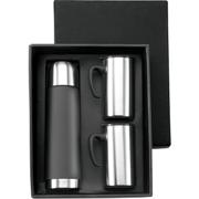 Flask and Mug Set in Deluxe Gift BoxBlack or BlueBlack or Blue