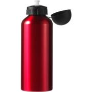 650ml Aluminium Water Bottle with Black CapBlue, Red, Coblat Blu
