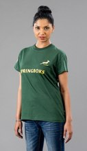 SA Rugby Basic T-Shirt - Ladies T-Shirt - Availe in:Green / Gold