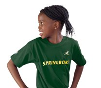 SA Rugby Basic T-Shirt - Kids Kids - Availe in:Green / Gold