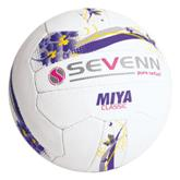 Sevenn Miya Classic Netball Ball - Avail in: White/Purple/Yellow