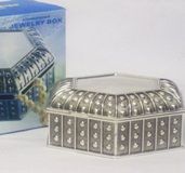 Silver Plated Trinket Box 6*11*11cm