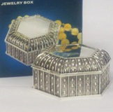 Silver Plated Trinket Box 4.5*8*8cm