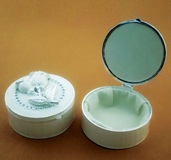 Cream trinket Box 9 cm