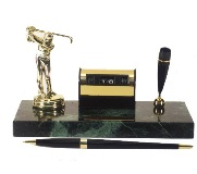 Marble Golfer Desk Set