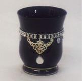 Hurrican Candle Holder Black - 11.8*8.5cm Diameter