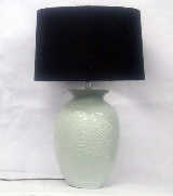 Cream Ceramic table Lamp - 66cm