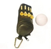 Golf Set in Zipper Pu Pouch including 3 golf balls and tees