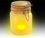 Sun Jar Solar powered lamp. Avail in Blue, Pink or Yellow