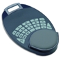 Mouse pad / calculator with padded rotational wrist supp