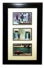 Black Wood Picture Frame - 3 windows