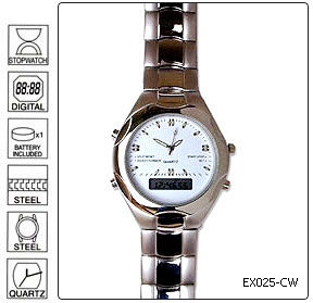 Fully customisable Standard Metal Executive Wrist Watch With Day