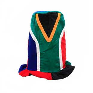 SA Flag Tall Funny Hat