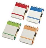 Eco Notebook With Pen (Red)