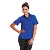 Ladies Brushed Cotton Twill Blouse - Short Sleeve