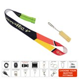 Recycled PET lanyard printed full colour on both sides with lobs
