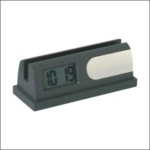 MINI LCD ALARM CLOCK BUSINESS CARD HOLDER PGIFTSI E795 GM