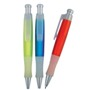 Ball pen, translucent with rubber grip and extra large refill