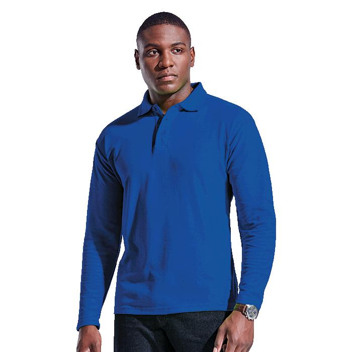 Barron Mens 175g Pique Knit Long Sleeve Golfer - Avail in: Black