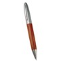 Wooden ball pen with metal upper barrel