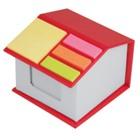 Desk House - Sticky notes on top and note sheets inside