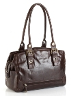 Jekyll & Hide Athena Leather Handbag 213368 - Black, Brown