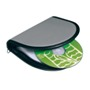 Foam PVC CD-case for 12 CD's silver