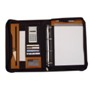 Deluxe real leather Ring-binder with A4 writing-pad, and calcula
