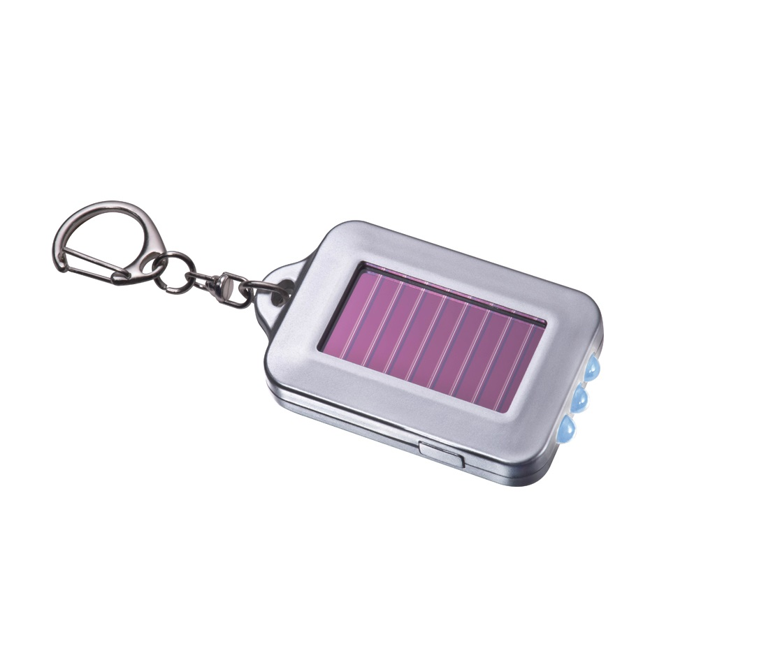 Solar Torch Key Ring: 3 LED - Eco-friendly