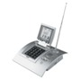 Desk alarm clock with radio, worldtime, calculator and calendar