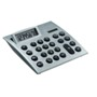 Dual power desk calculator with tilt up display