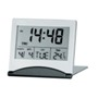 Travel alarm clock, date, day, temperature