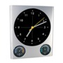 "Wall clock ""Trio"" with hygrometer and thermometer"