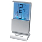 Desk clock with colour changing display
