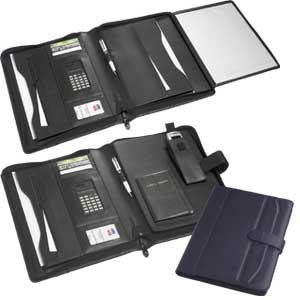 Complete Organizer Folder - Black or Navy Koskin