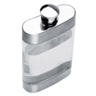 The trend setter! Transparent hip flask with metal finish.