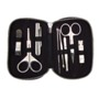 Luxury stainless steel manicure set in micro fibre case