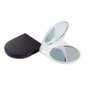 Dual mirror set with standard and magnifying mirror