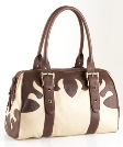 Jekyll & Hide Cow Leather Handbag 7523 - Cream with Dark Brown
