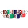 4 mug set with different coffee decorations on each mug