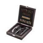 Luxurious wine set  in wooden gift box includes chess game