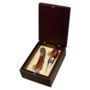 Luxurious wine set in wooden gift box