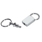 Gift keyring with handy detachable ring - metal. When the keys n