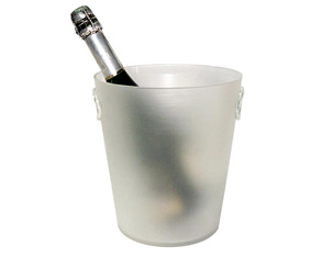 ACRYLIC FROSTED WHITE CHAMPAGNE COOLER