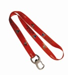 Bottle Opener  holder full col dye sub Lanyard - Min Order 100 u