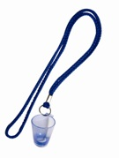 Shooter Glass with lanyard  - Min Order 100 units