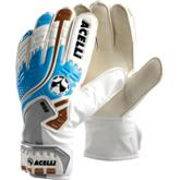 Acelli Vision M90 Goalie Glove - Avail in: White/Sky/Gold