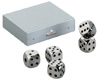Nickel alloy dice set in alumiun box